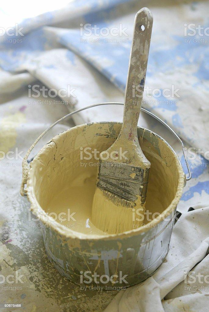 Bucket of Paint stock photo