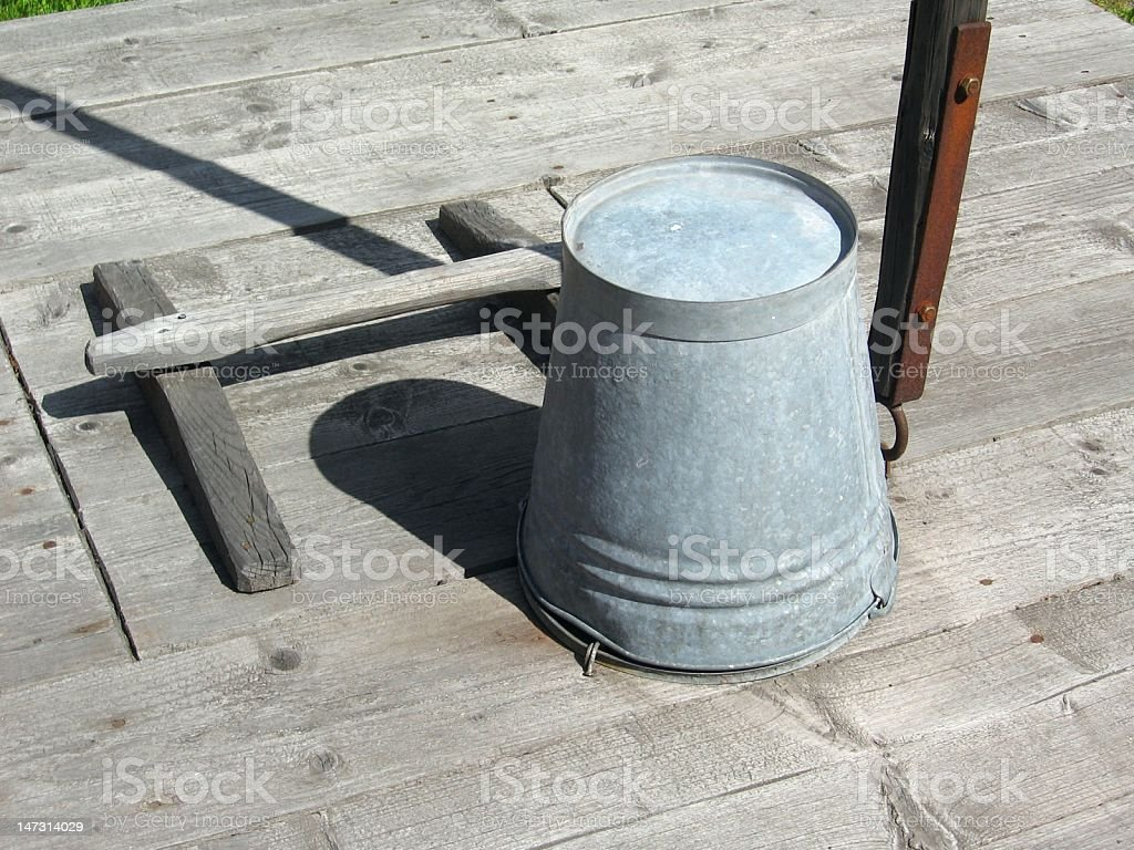 Bucket on a well royalty-free stock photo