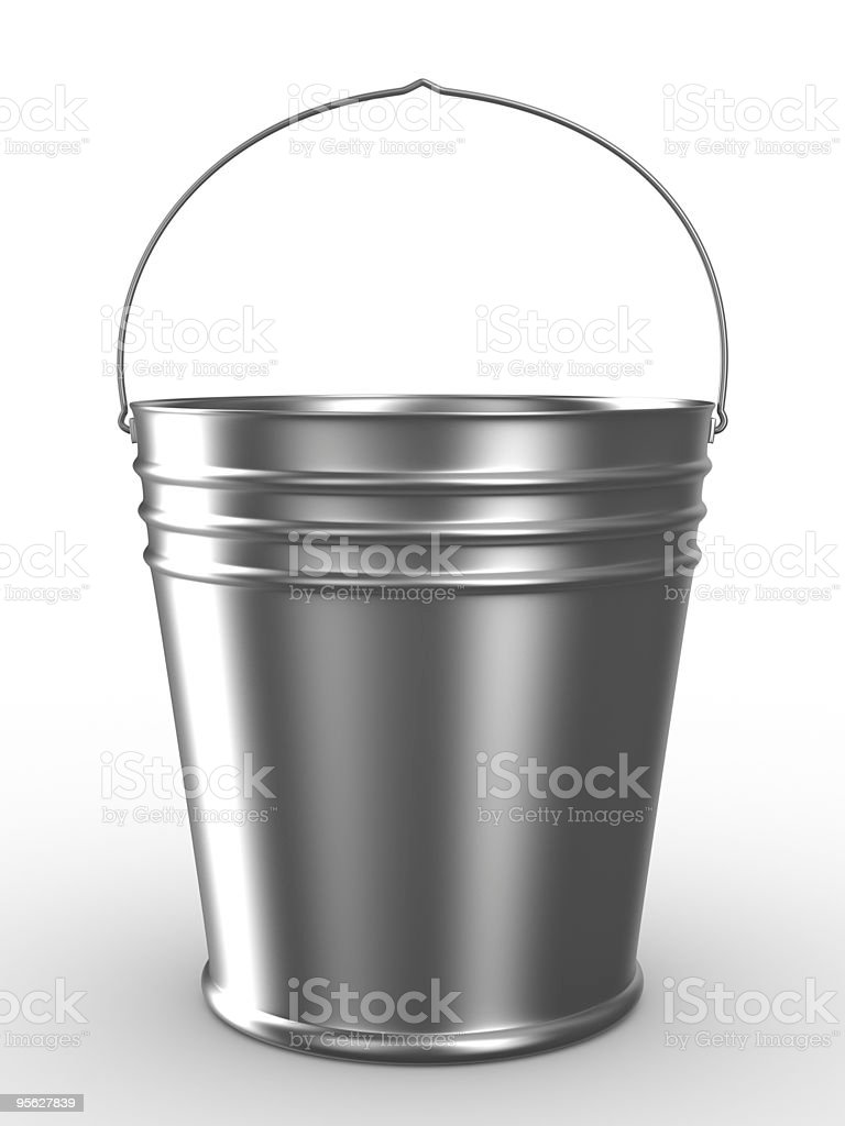 Bucket on white background. Isolated 3D image royalty-free stock photo