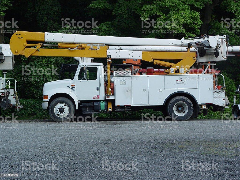 bucket truck 1 stock photo