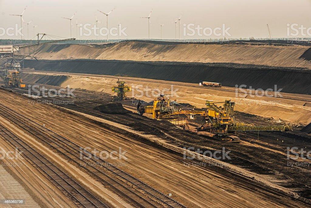 Bucket wheel excavators - Lignite mining stock photo
