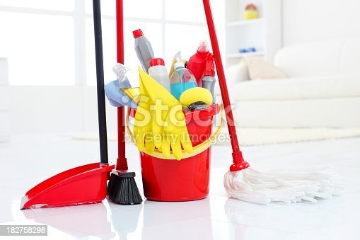istock Bucketful and cleaning equipment. 182758298