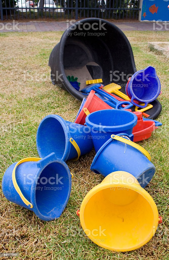 Buckets and Spades royalty-free stock photo