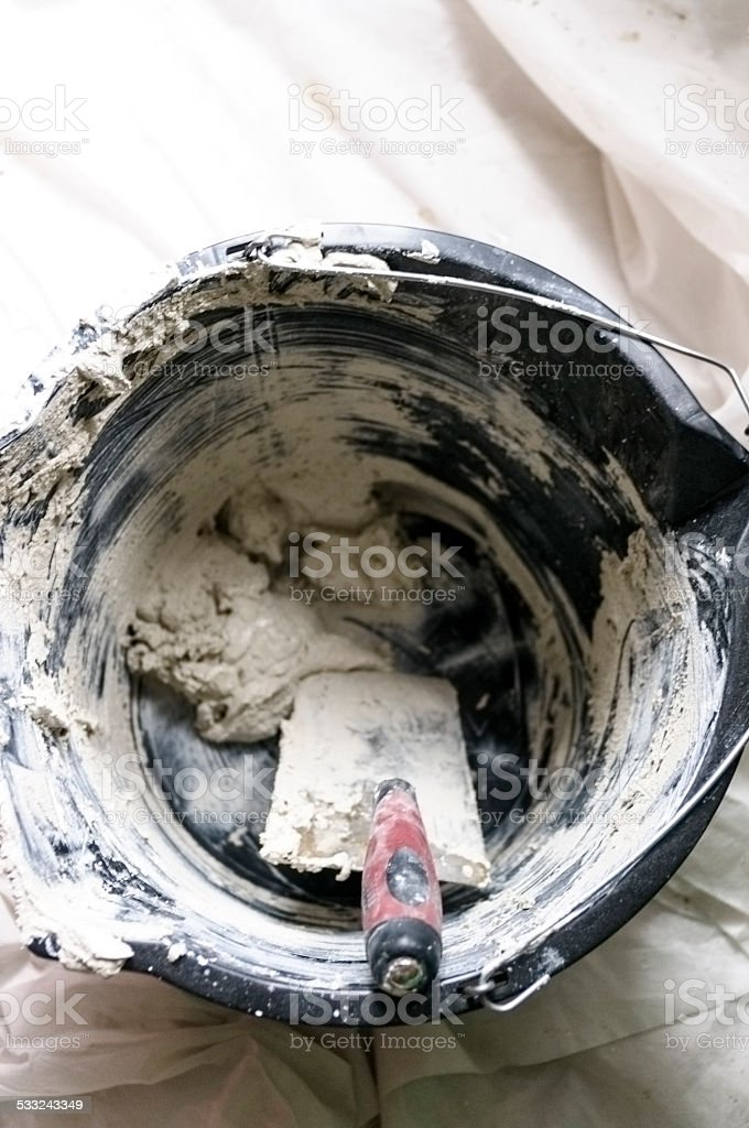 Buckets and Trowels in Use stock photo