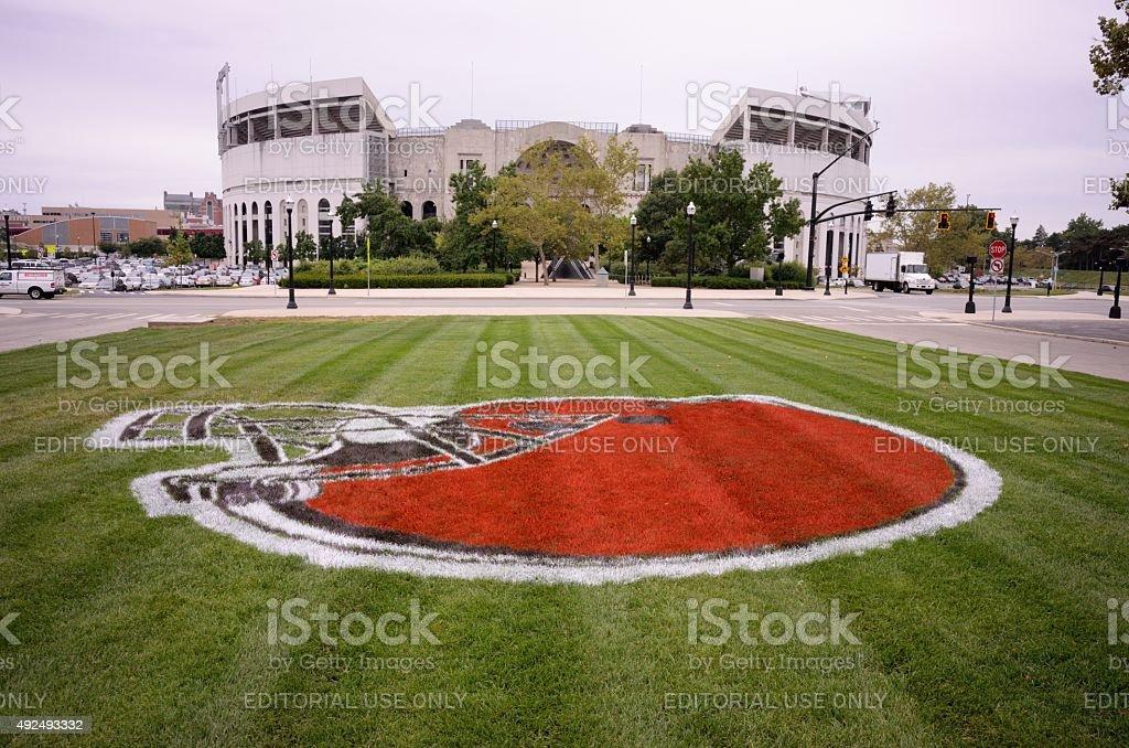 Buckeye Stadium at The Ohio State University stock photo