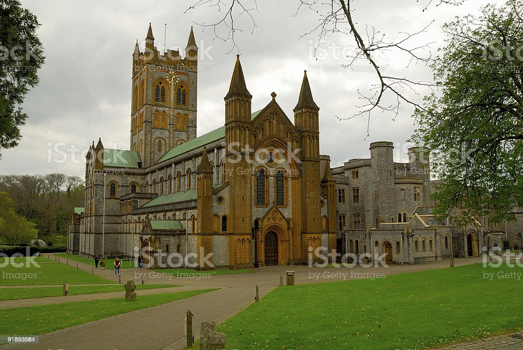 Buckfast Abbey stock photo