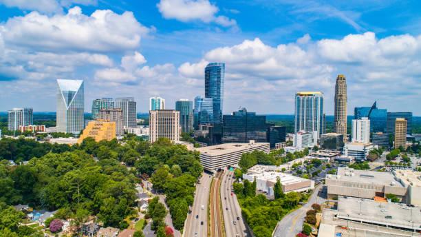 Buckhead Aerial near Downtown Atlanta Georgia stock photo