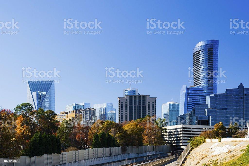 Buckhead, Atlanta skyline stock photo