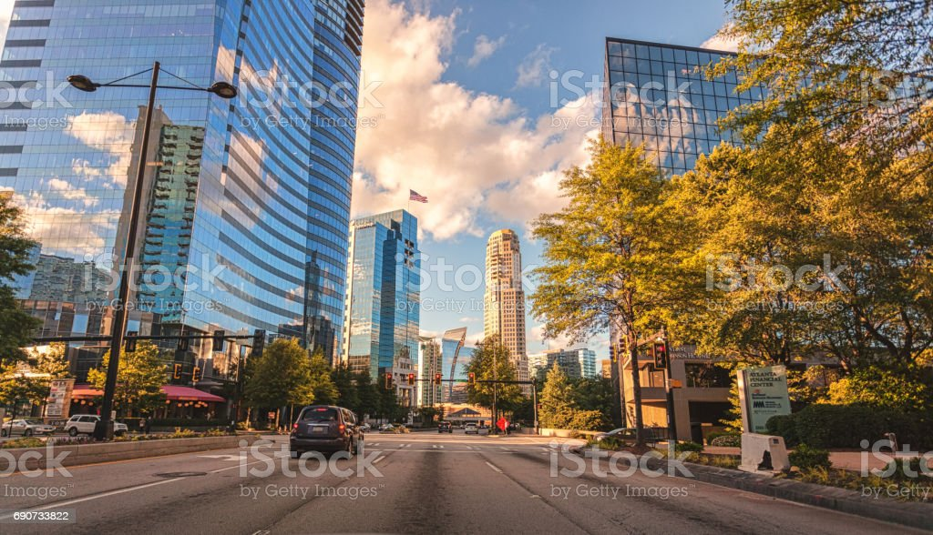 Buckhead in Atlanta Georgia stock photo