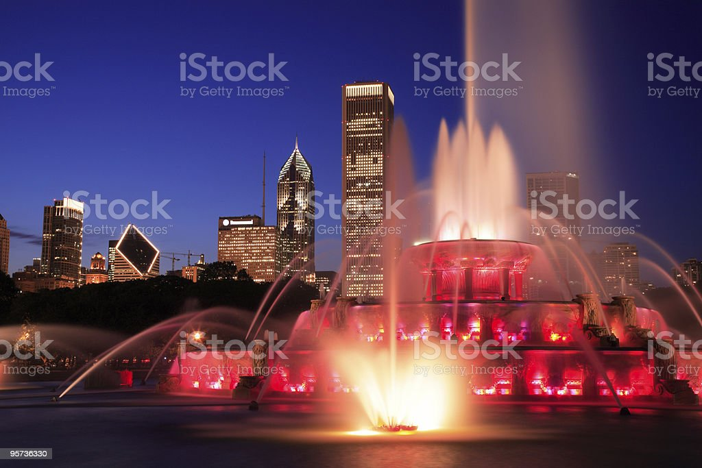 Buckingham Fountain, Chicago royalty-free stock photo