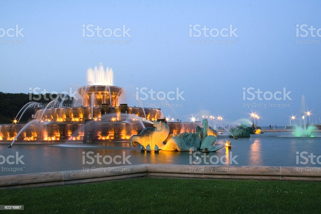 Buckingham Fountain in Chicago royalty-free stock photo