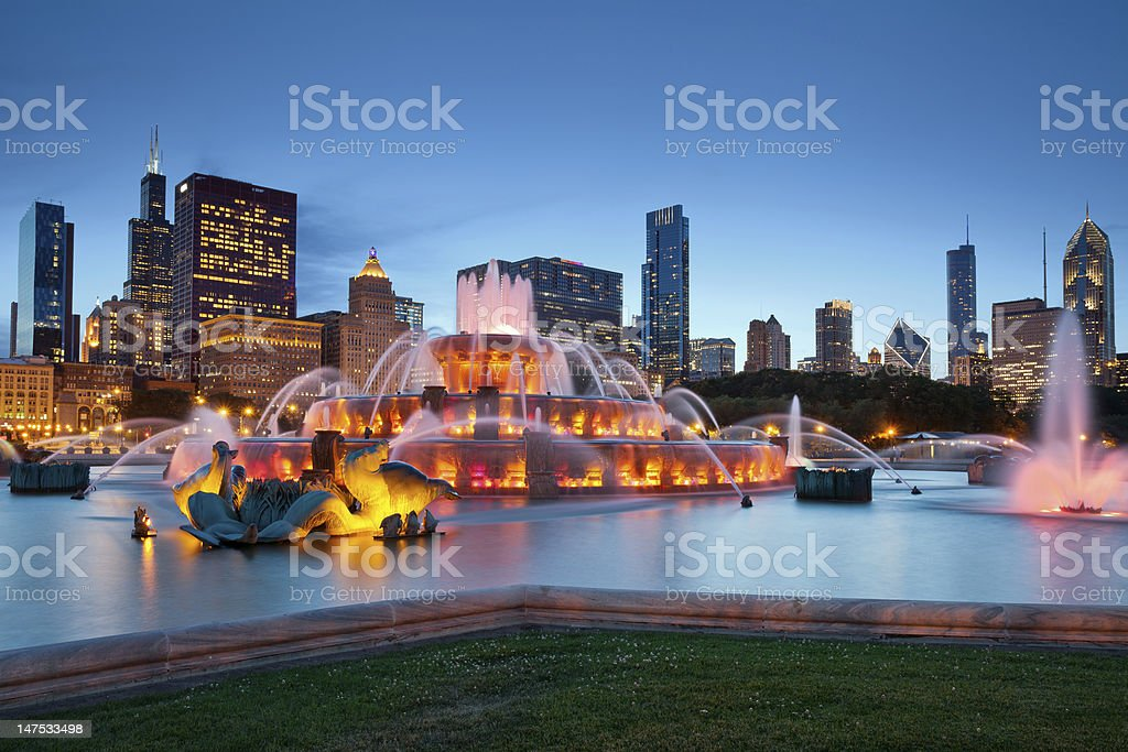 Buckingham Fountain. stock photo