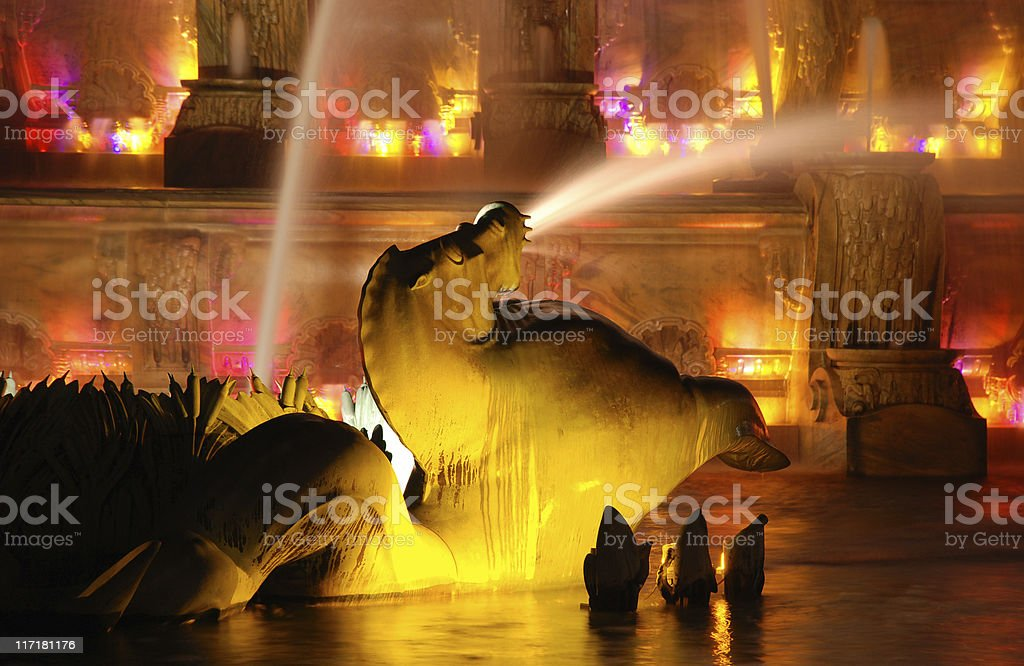 Buckingham Memorial Fountain stock photo