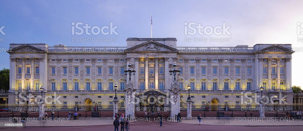 Buckingham Palace de nuit à Londres, Angleterre - Photo