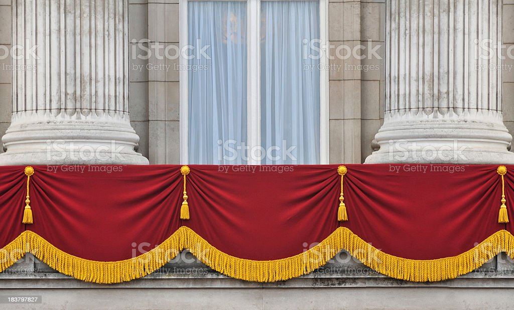 Buckingham Palace Balcony royalty-free stock photo