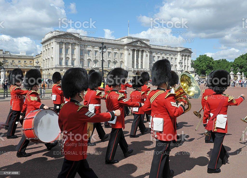 Buckingham Palace band stock photo