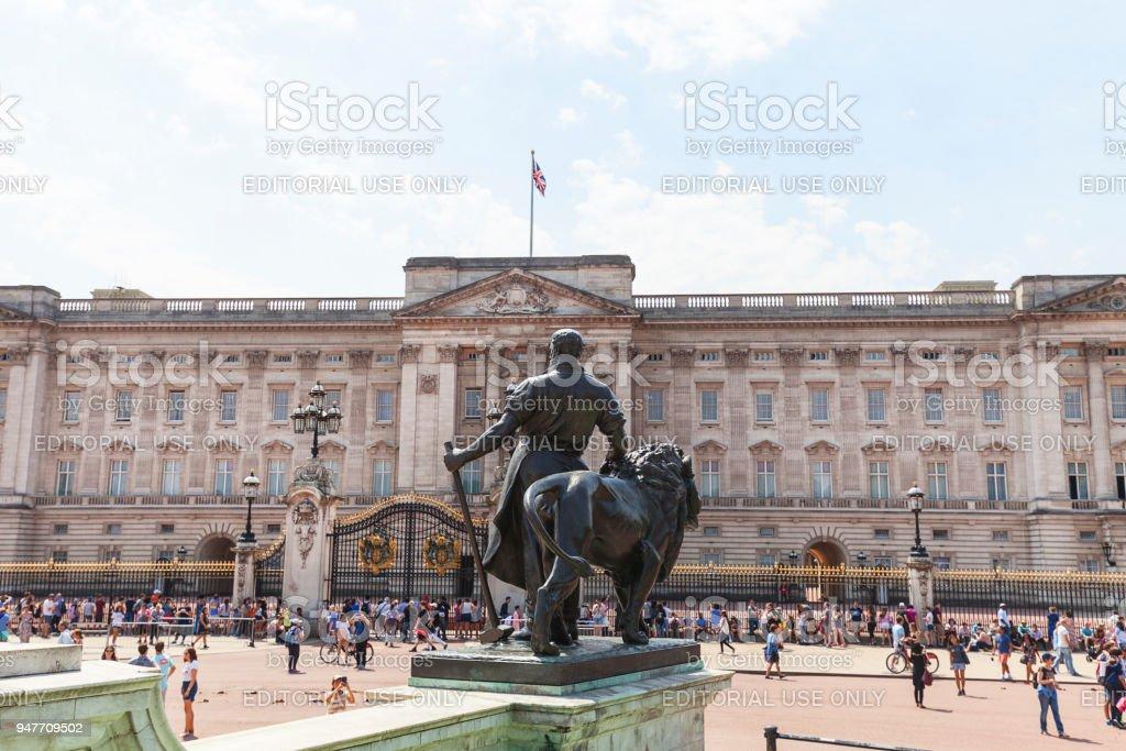 Buckingham Palace, facade, London, United Kingdom stock photo