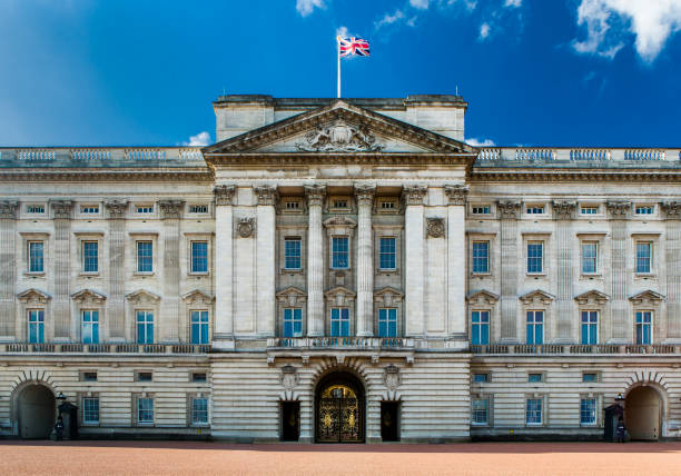 Buckingham Palace Facade. stock photo