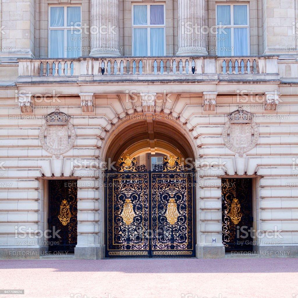 Buckingham Palace, facade with famous balcony, London, United Kingdom stock photo