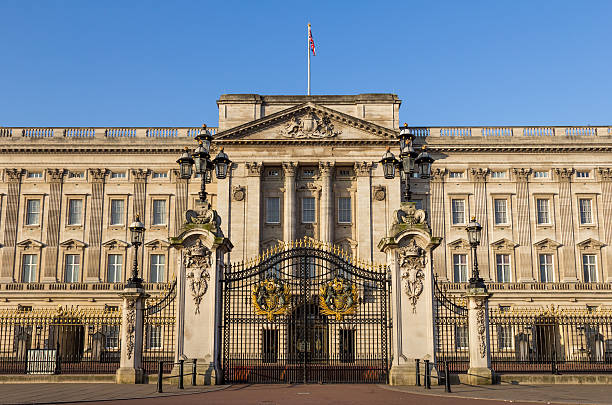 Buckingham Palace Front Gates stock photo