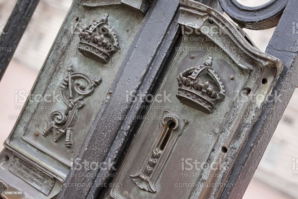 Buckingham Palace Gate royalty-free stock photo
