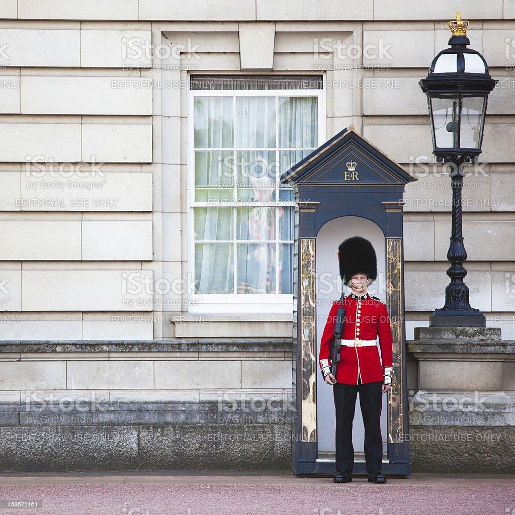 Buckingham Palace Grenadier Guard royalty-free stock photo