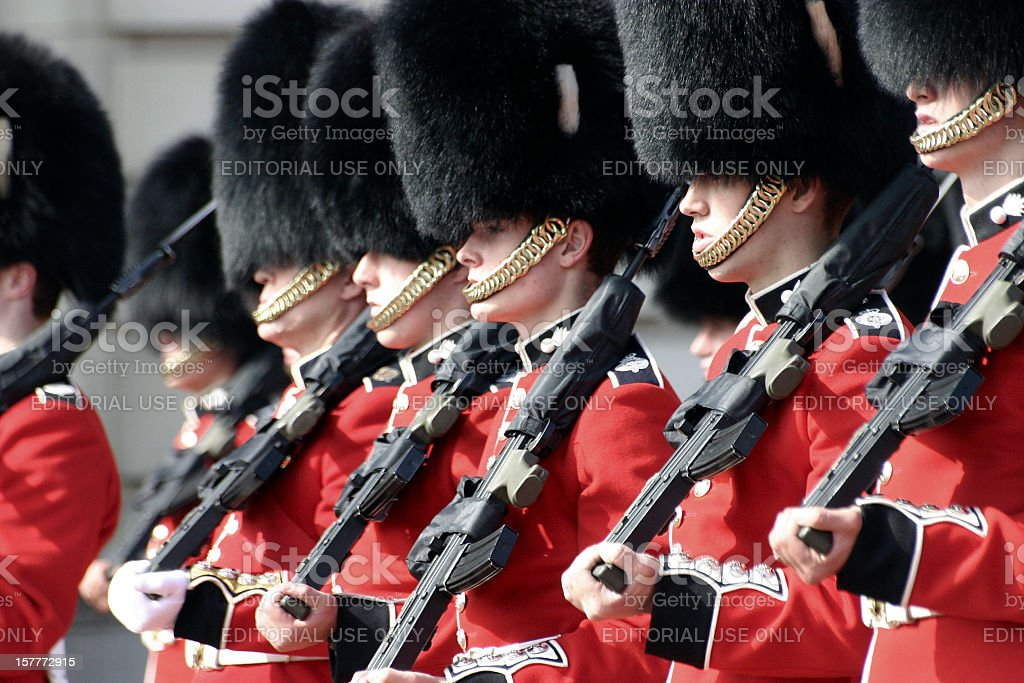 Buckingham Palace Guard, London, UK stock photo