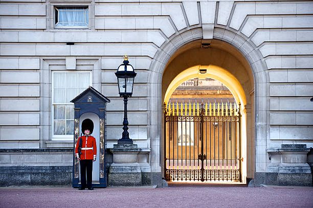 Buckingham Palace Guard stock photo