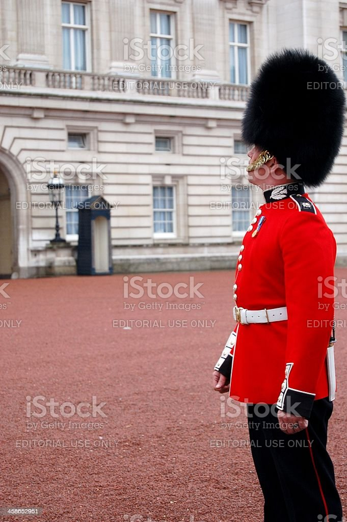 Buckingham Palace guard royalty-free stock photo