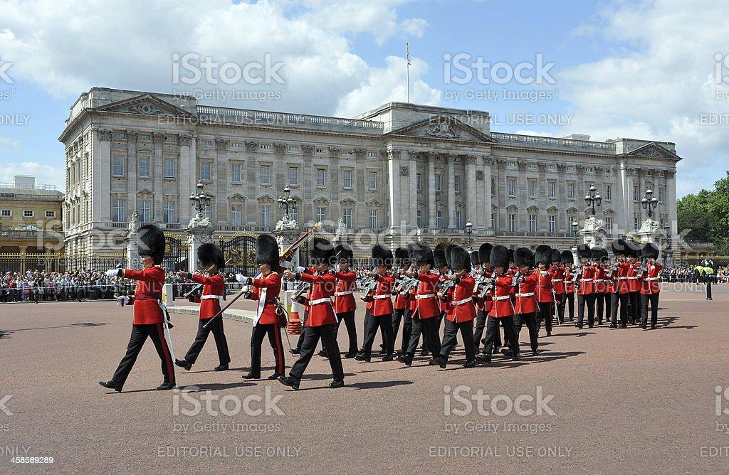 Buckingham Palace guards royalty-free stock photo