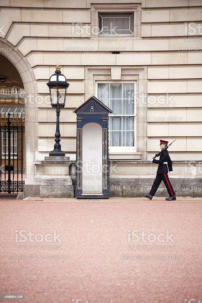 Buckingham Palace Honor Guard royalty-free stock photo