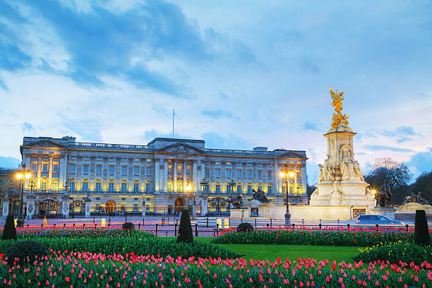 Buckingham palace in London, Great Britain stock photo