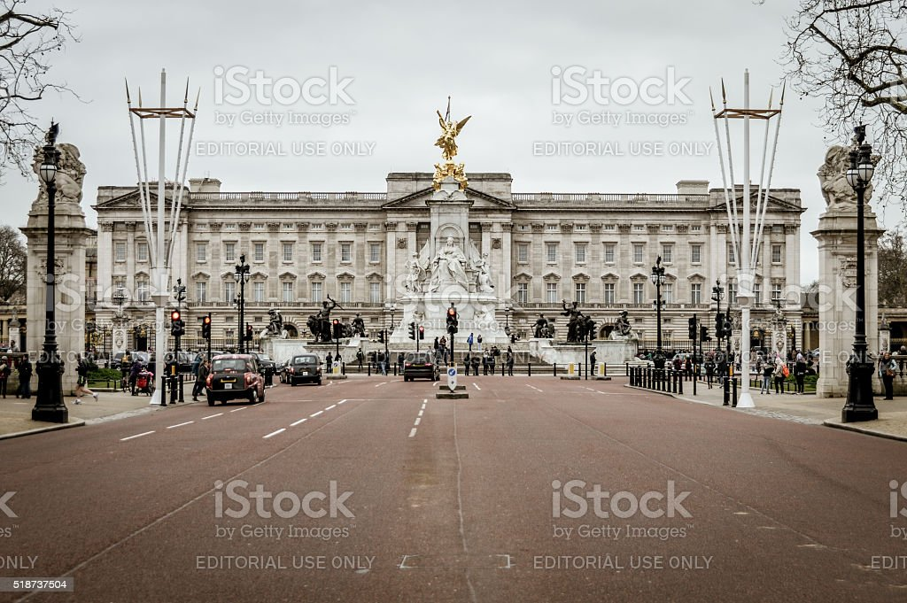 Buckingham Palace in London, UK stock photo