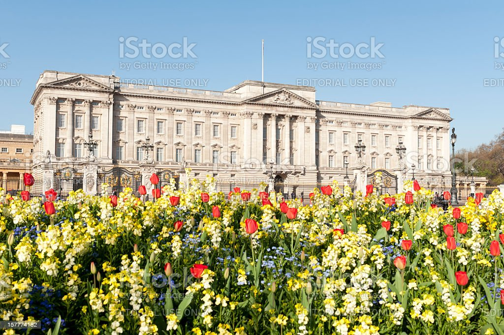 Buckingham Palace in Spring royalty-free stock photo