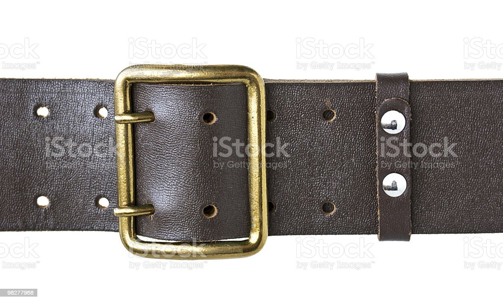 buckle military belt royalty-free stock photo