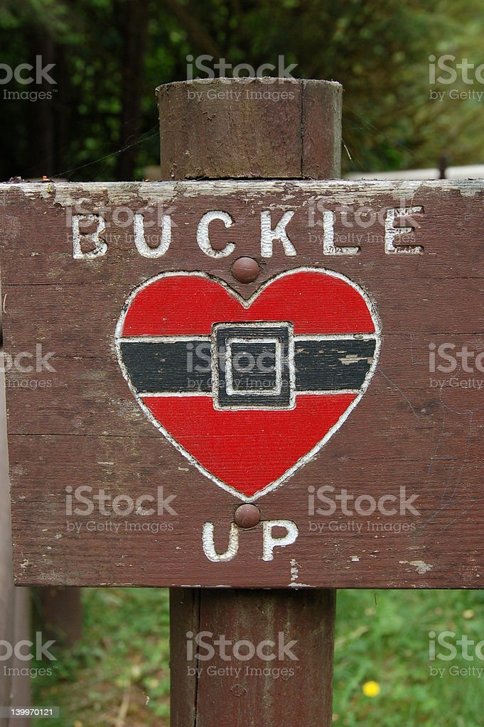 Buckle Up stock photo