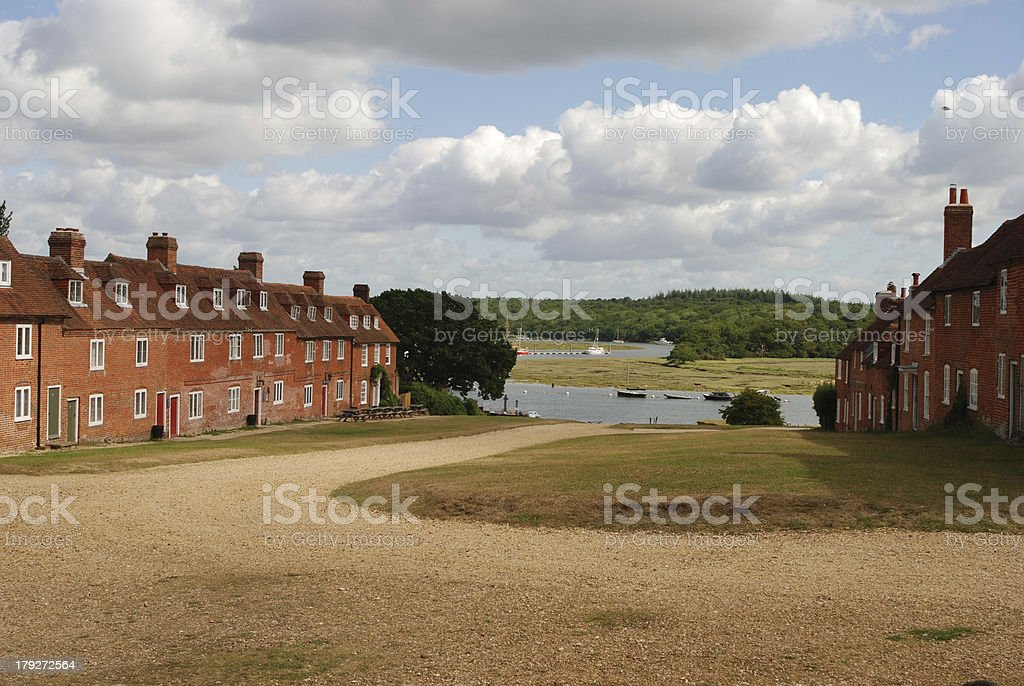 Bucklers Hard in the New Forest, Hampshire, England stock photo