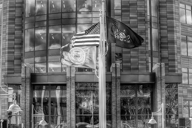Bucks County Justice Center on a Blustery Day In March stock photo