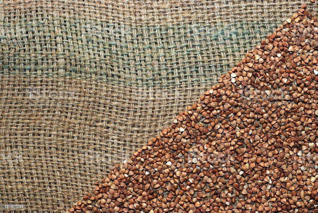 Buckwheat in diagonal royalty-free stock photo