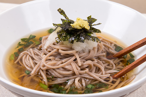 Buckwheat Noodle Soba Memil Guksu Stock Photo - Download Image Now - iStock