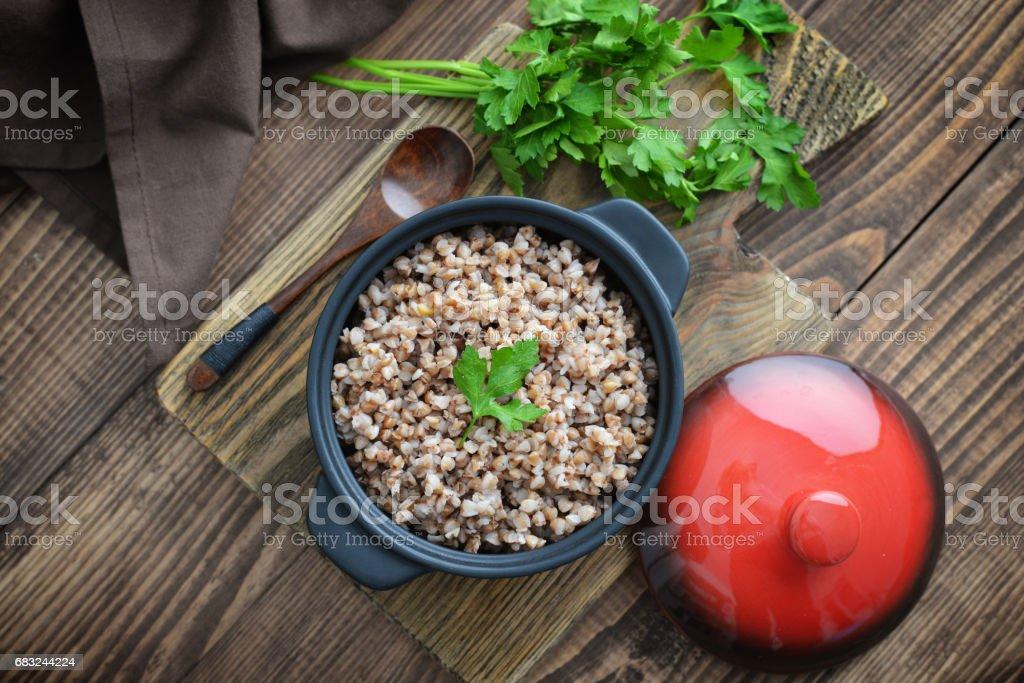 黑燉蕎麥粥 免版稅 stock photo