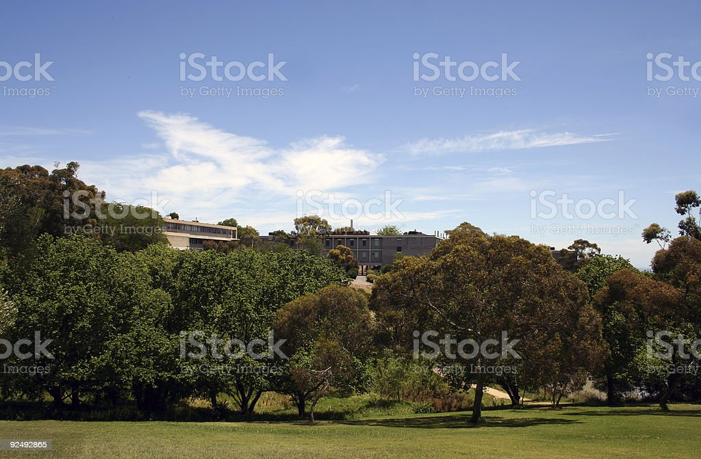 Bucolic campus royalty-free stock photo