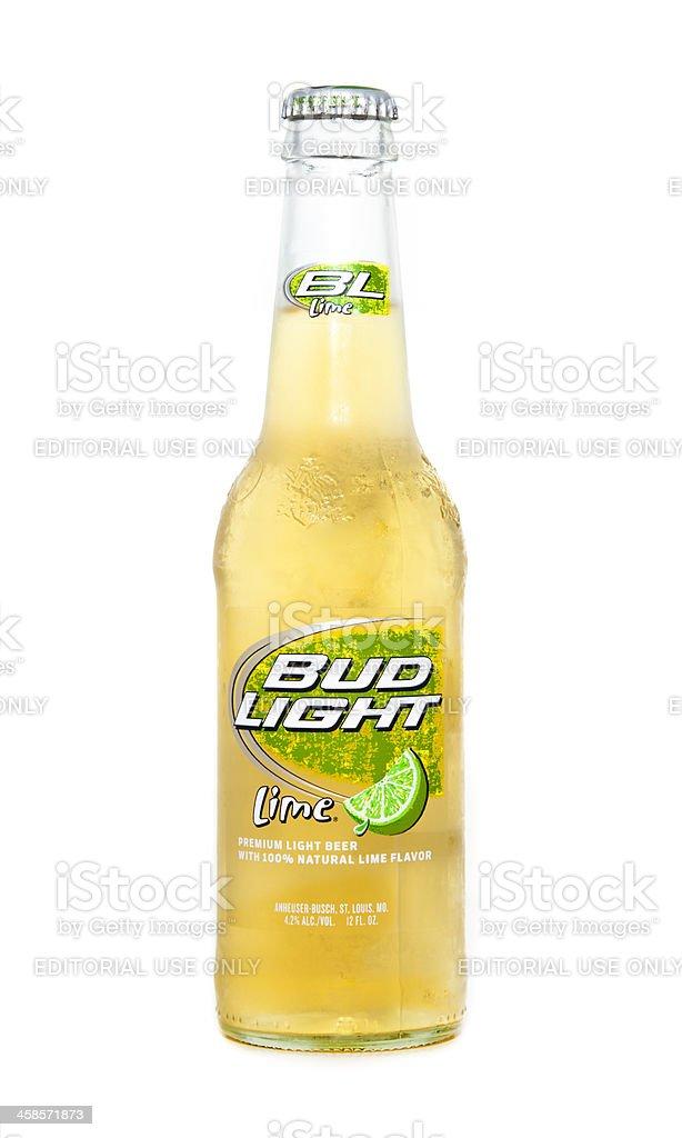 Bud Light Lime Bottle Stock Photo