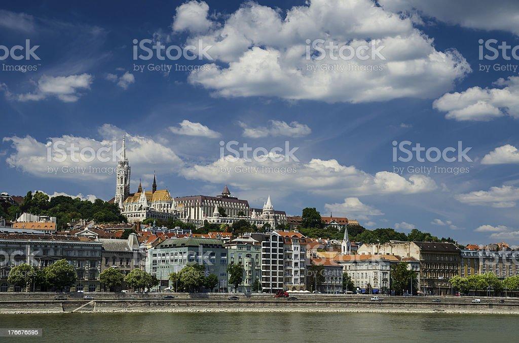 Buda and Matthias Church. Old city of Budapest, Hungary. royalty-free stock photo