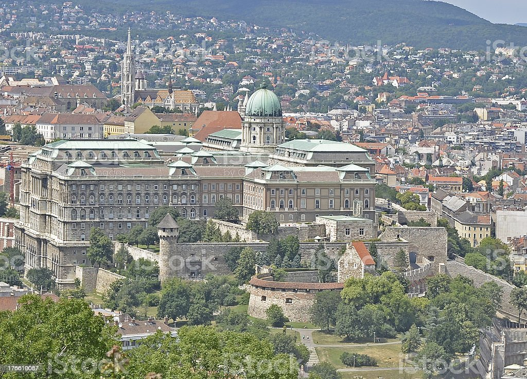 Buda palace in Budapest, Hungary royalty-free stock photo