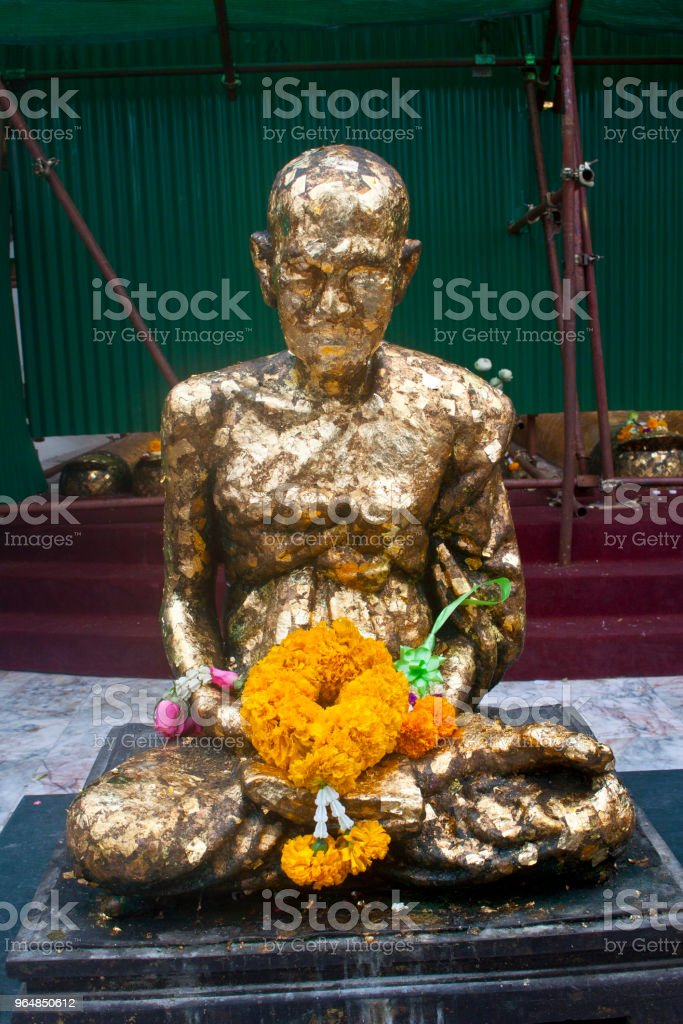 Buda with Gold Leaves royalty-free stock photo