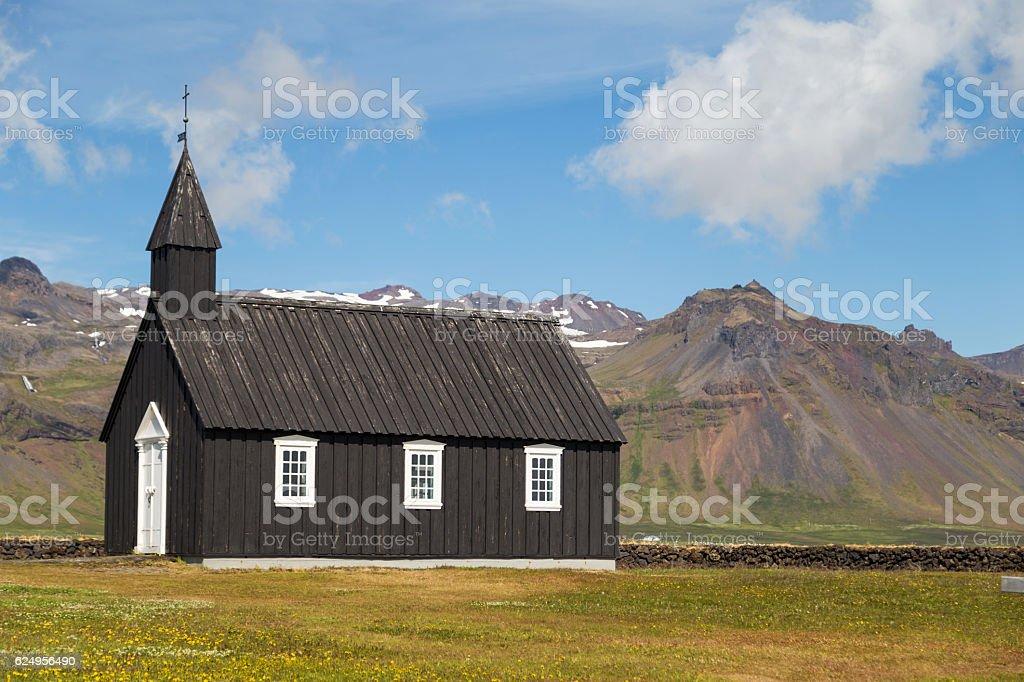 Budakirkja Iceland stock photo