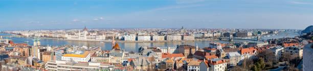 Budapest and River Danube Panorama stock photo
