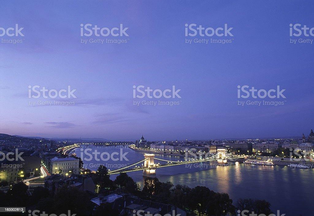 Budapest at Dusk royalty-free stock photo