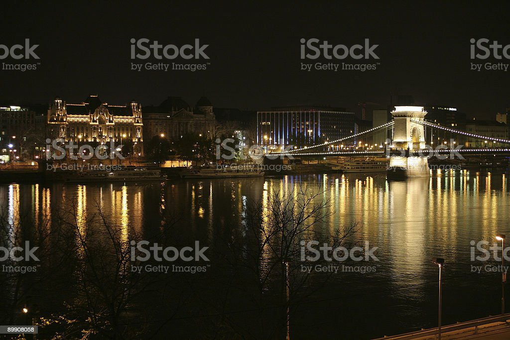 Budapest at night royalty-free stock photo